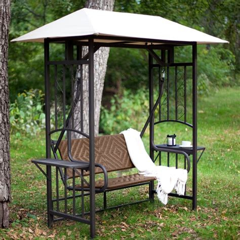 garden swing 2 person gazebo swing patio backyard shade canopy deck