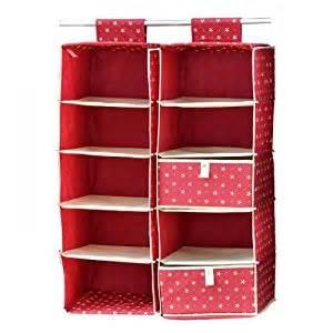 Hanging Storage Bins For Closets Ihomesport 5 Shelf Closet Organizer Wardrobe Storage