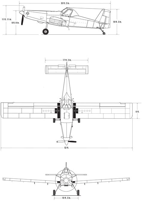 D Sketches by At 502b Air Tractor