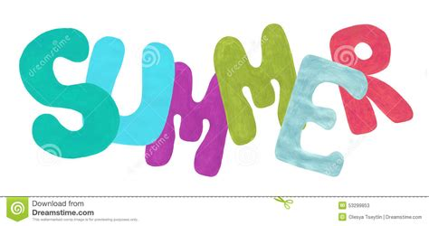 word clipart summer word clip cliparts