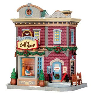 the corner coffee shop christmas village building sears