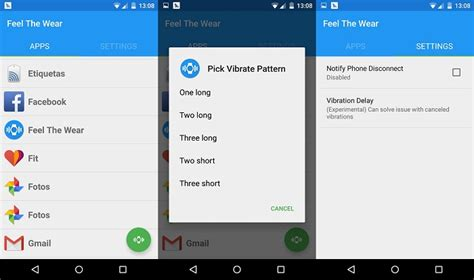 vibrate pattern android exle feel the wear apps vibration patterns on your android