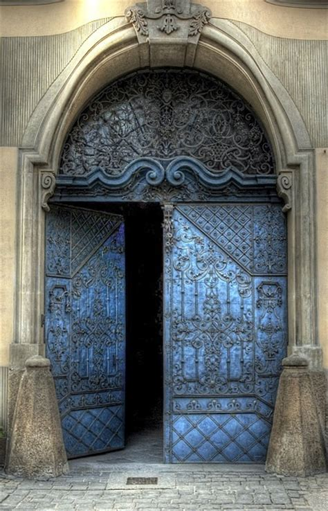 beautiful doors beautiful old blue doors ingress pinterest