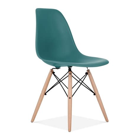 iconic chairs teal charles eames style dsw chair side cafe chairs