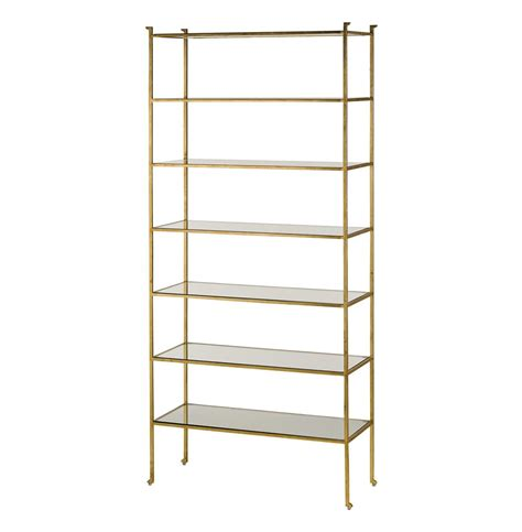 Gold Shelf by Classic Regency Gold Leaf Etagere Display