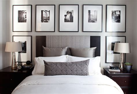 bedroom picture frames art over headboard contemporary bedroom kelly deck