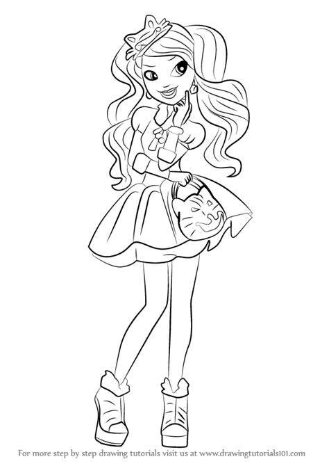 ever after high coloring pages kitty cheshire learn how to draw kitty cheshire from ever after high