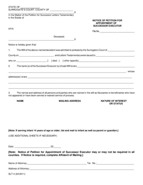 Appointment Letter Document Letter Of Appointment Of Executor Legalforms Org