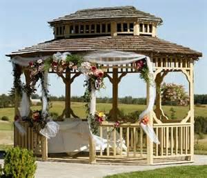 Rustic Wedding Gazebo Decorations by Unique Outdoor Wedding Ideas Slideshow Lovetoknow Party