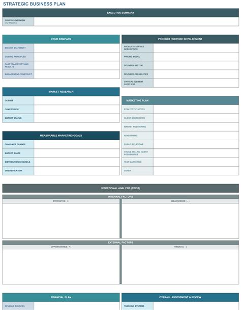 strategic plan template excel 9 free strategic planning templates smartsheet