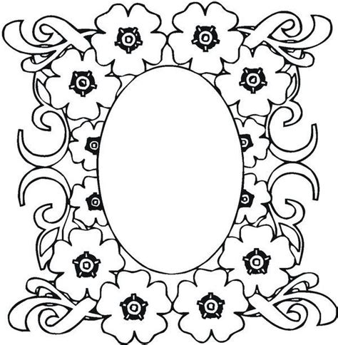 flower mosaic coloring page mosaic mosaic of flower frame coloring page coloring