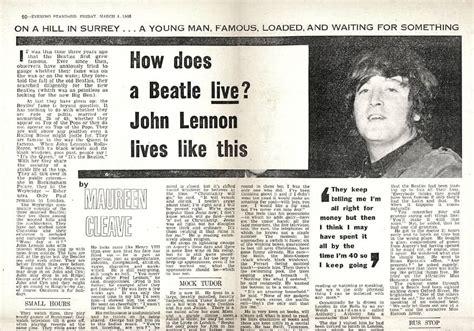 john lennon biography articles 4 march 1966 john lennon we re more popular than jesus