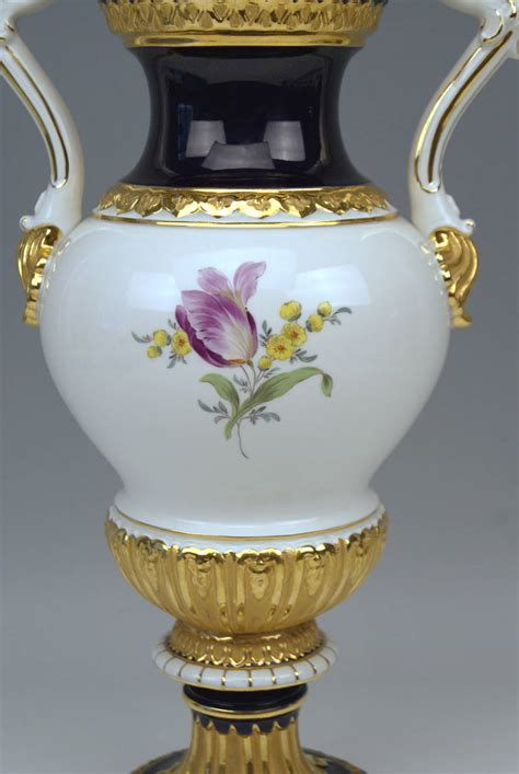 Meissen Vases by Meissen Hora Multicolored Vase With Two Handles