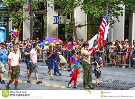 new year parade san francisco history san francisco pride parade boy scout editorial image