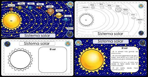 imagenes educativas del sistema solar cuaderno para trabajar el sistema solar