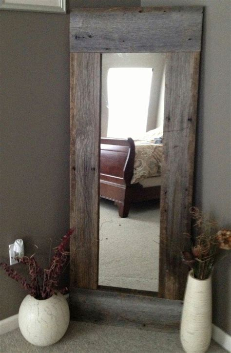 barn wood mirror 40 rustic home decor ideas you can