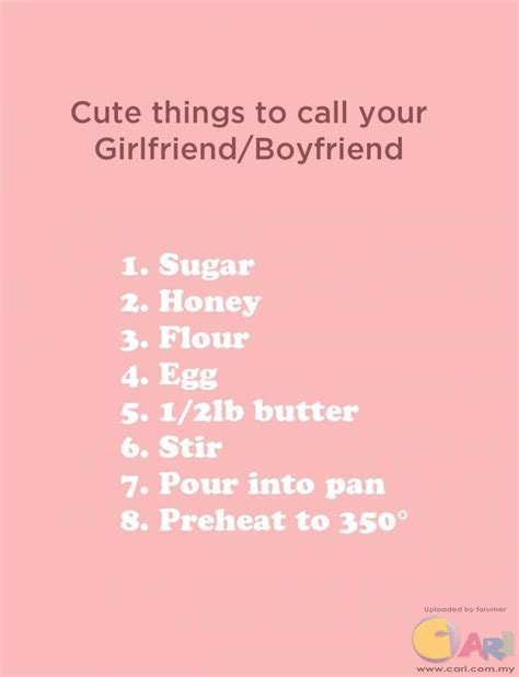 sweet names names to call your gf bf cari infonet powered by discuz