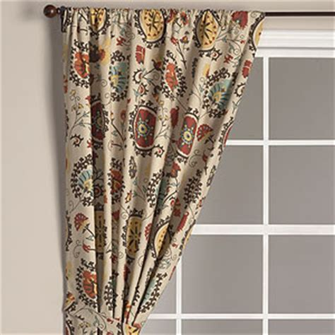 cost plus curtains suzani print curtain panel eclectic curtains by cost