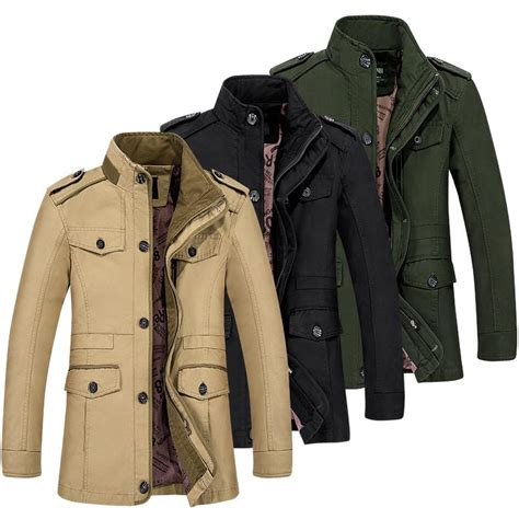 7 Stylish Trench Coats by Stylish Mens Trench Coat Overcoat Cotton Stand Collar