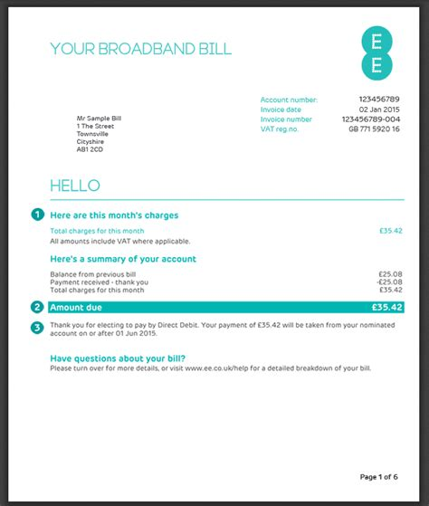 Sky Credit Balance Letter My Bill Explained Home Broadband Home Phone And Ee Tv Ee