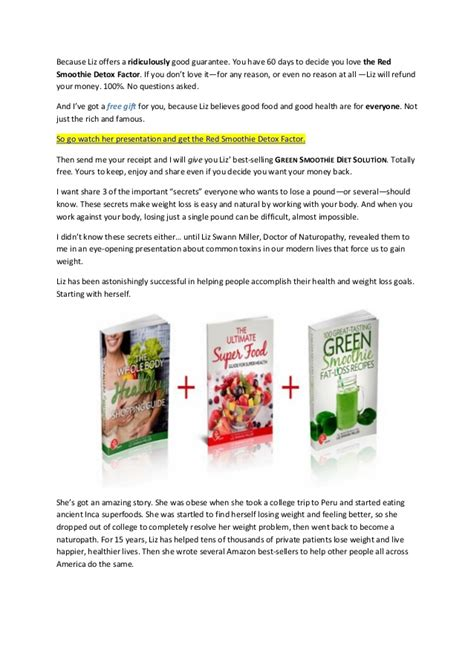 12 Day Detox Smoothie Pdf by Smoothie Detox Recipes For Weight Loss