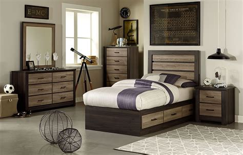 birch bedroom furniture oakland smoky brown and grayed birch youth captains
