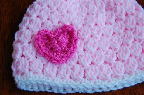 free pattern baby hat crochet free girl s crochet hat pattern with heart
