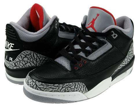 Classic 3s classic air 3 retro black cement grey shoes aj024