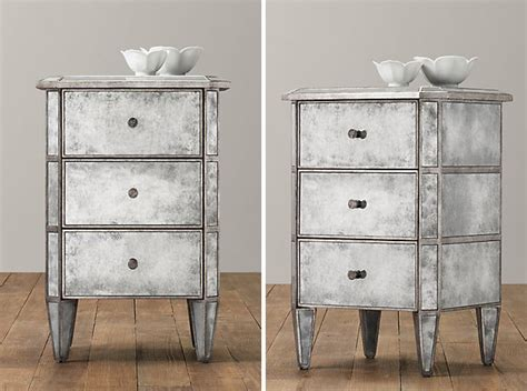 Antiqued Mirrored Nightstand by 14 Ways Mirrors Can Help Shine Up Your Home Brit Co