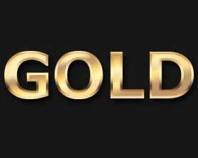 create a slick gold text effect using photoshop creative