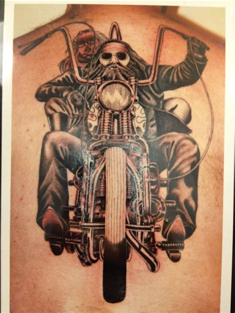 motorcycle tattoo outlaw biker meanings