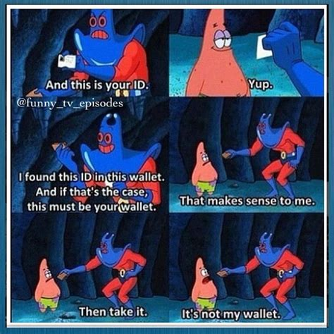Spongebob Wallet Meme - pin by andre painter on spongebob funny pinterest