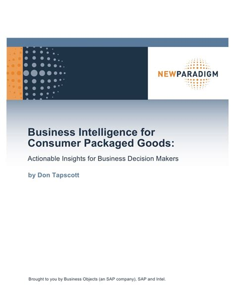 Consumer Products Definition Industry Mba by Business Intelligence For Consumer Products Actionable