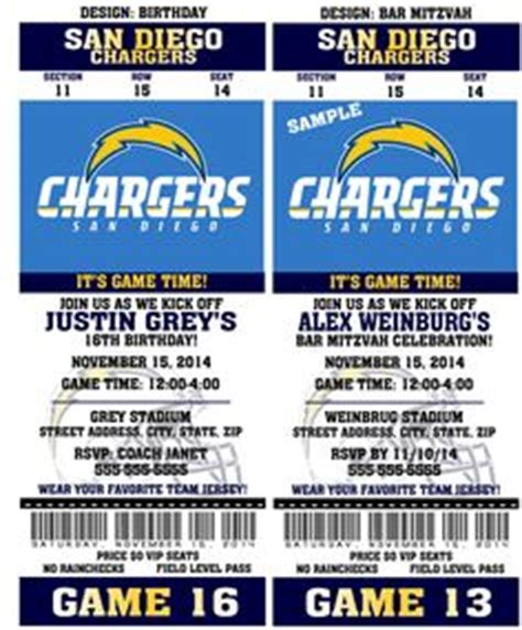 printable nfl tickets 1000 images about football birthday on pinterest san