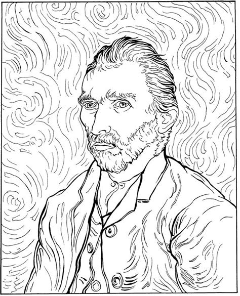 Free Coloring Pages Of Van Gogh Sunflowers Gogh Coloring Page