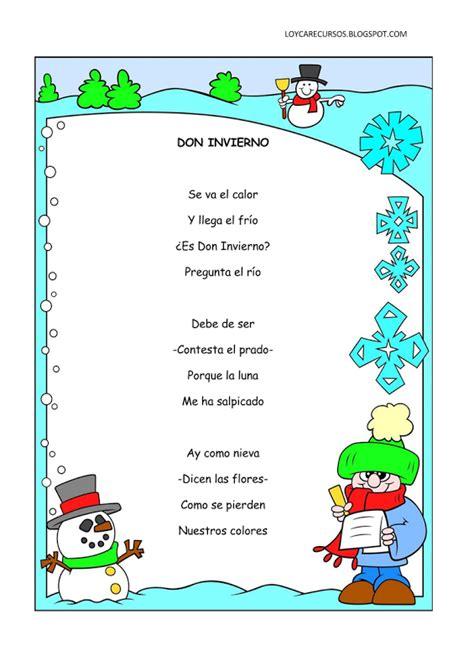 rimas para ni os poemas y rimas infantiles del invierno para ni 241 os