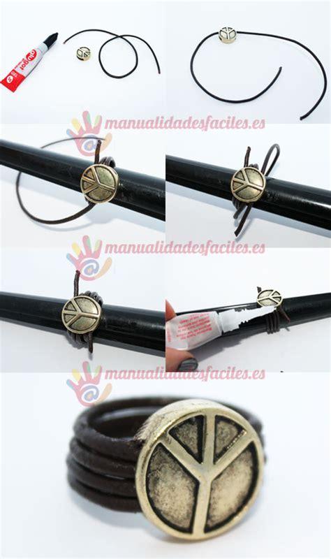 como hacer anillos de cuero como hacer un anillo con cordon de cuero manualidades