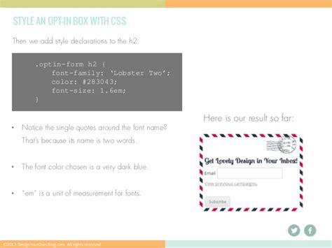 Custom Motif Profesi Part 4 Design A Custom Opt In Form Without A Plugin Part 4