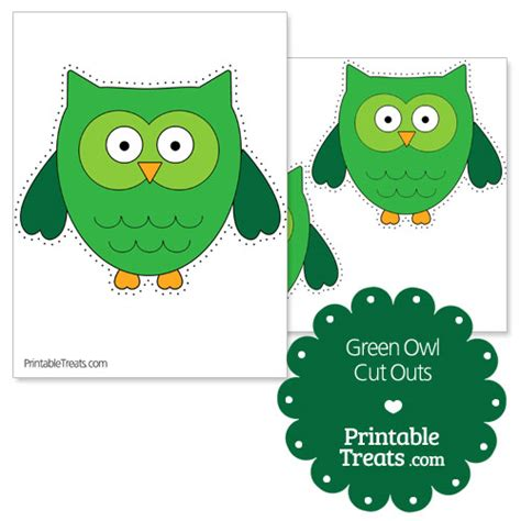 printable owl cut outs printable green owl cut outs printable treats com