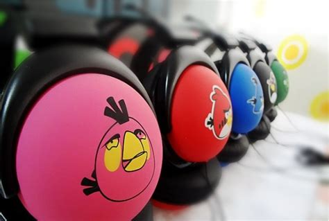 Headset Earphone Headphone Angry Bird An 40 angry birds stereo ear headphone headset mix style 3 5mm many colors bug cell tv