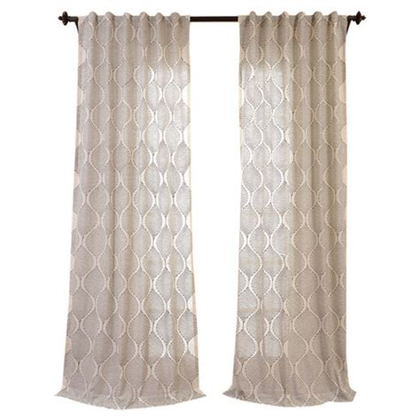 embroidered linen curtains half price drapes dreamweaver embroidered faux linen sheer