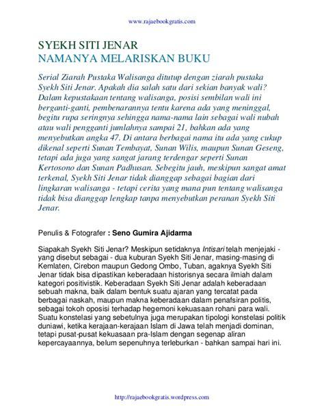Syaikh Siti Jenar Buku 6 syekh siti jenar namanya melariskan buku