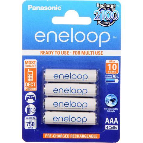 4 Pcs Panasonic Eneloop Aaa 750mah Rechargeable Batteries panasonic eneloop aaa rechargeable ni mh batteries bk 4mcca4ba