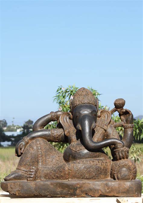 the reclining lotus stone reclining ganesha statue holding lotus 36