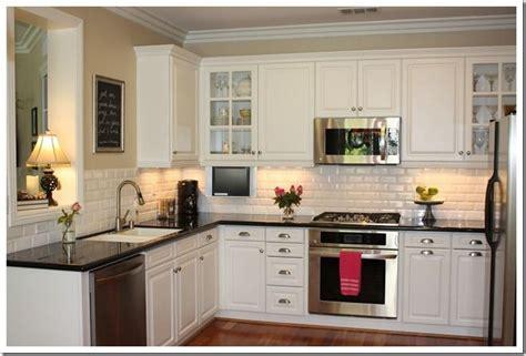 white kitchen backsplash like the cabinet color too small kitchen home renno pinterest subway tiles