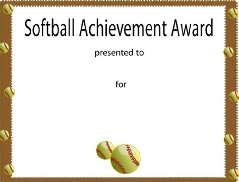 softball certificate award 2 50 softball trophies and