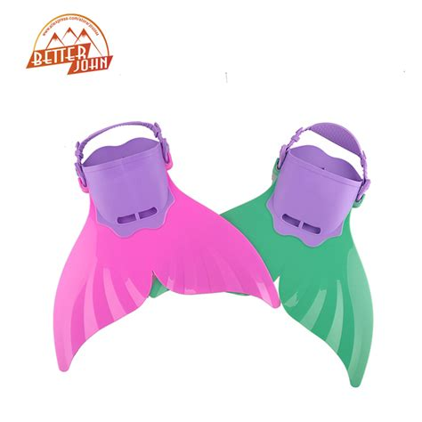 1 Pair Soft Silicone Swimming Fins Flipper Frog kid children っ swimming swimming fins mermaid