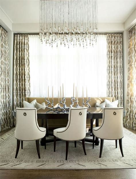 Linear Chandelier Dining Room Linear Strand Chandelier Transitional Dining Room Richardson Design