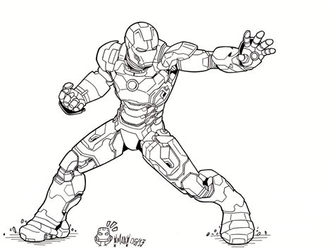iron man mark 7 coloring pages iron man 3 mark xlvii by maxanimes on deviantart