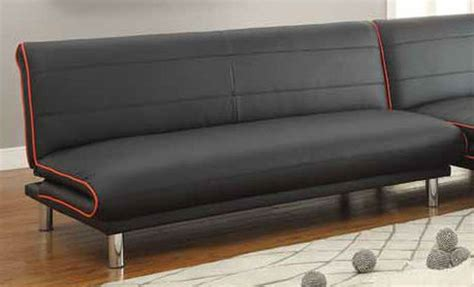 coaster 500776 black leather sofa bed a sofa